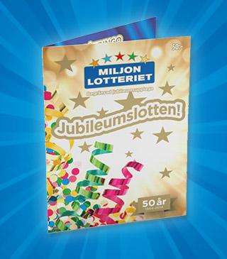 miljonlotteriet 50 års jubileum Jubileumslotten miljonlotteriet 50 års jubileum